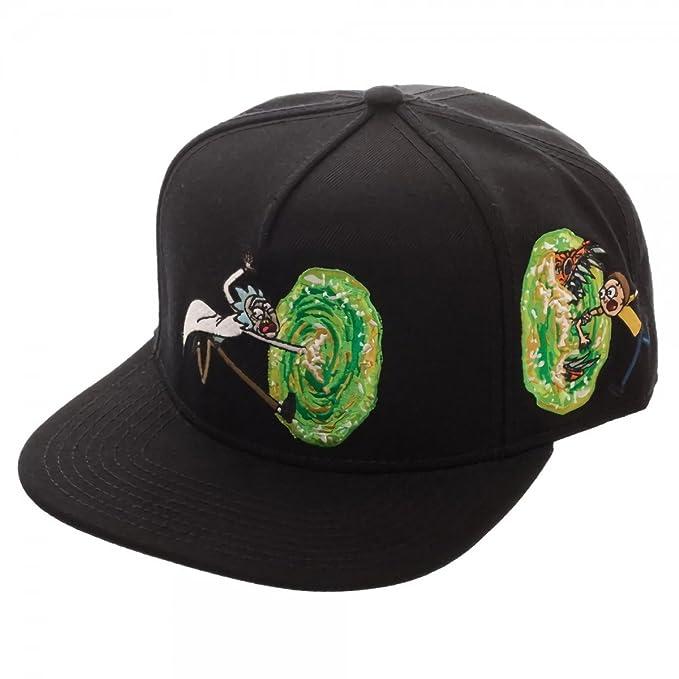 3dee2bdabc543 Amazon.com  Rick and Morty Portal Black Adult Swim Snapback Hat ...