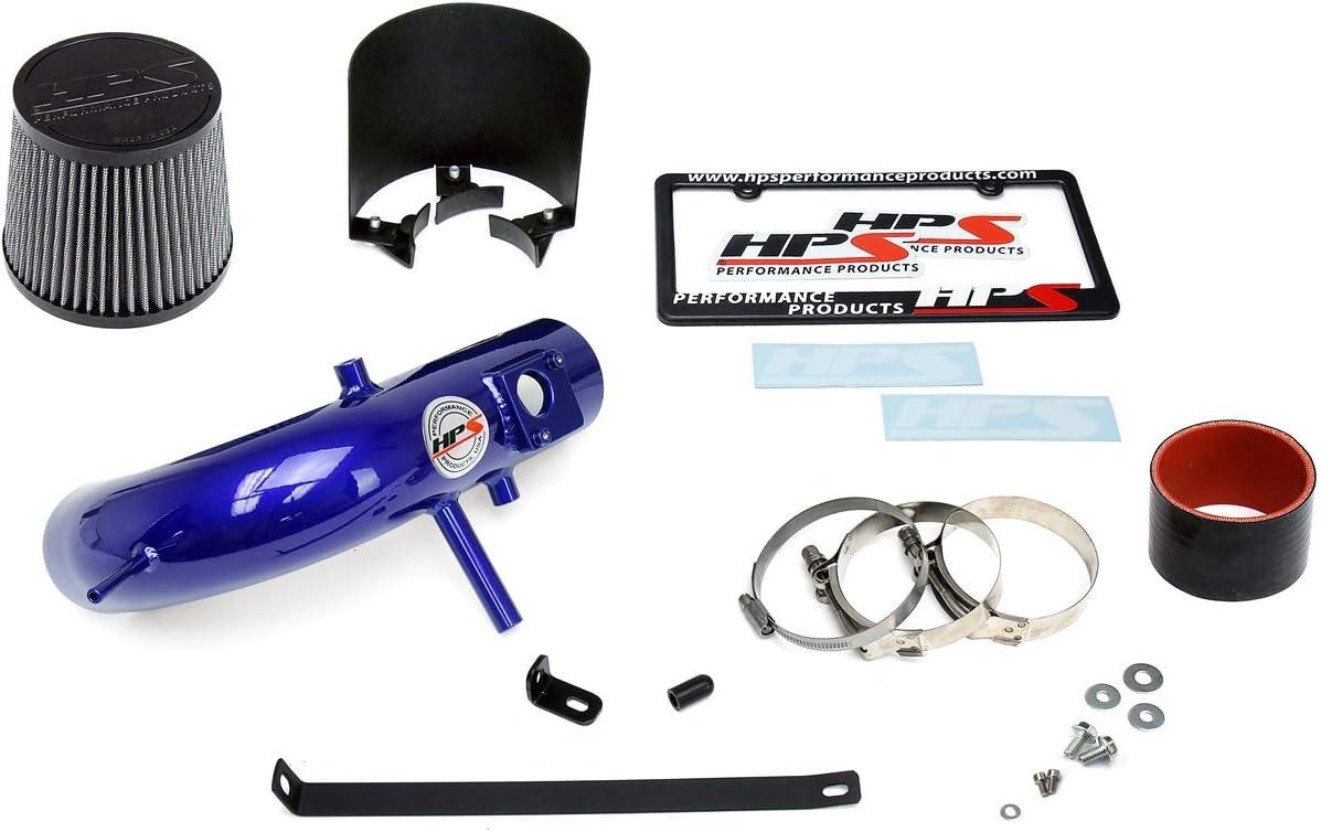 HPS Performance 827-524P Polish Shortram Air Intake Kit with Heat Shield Cool Ram 1 Pack