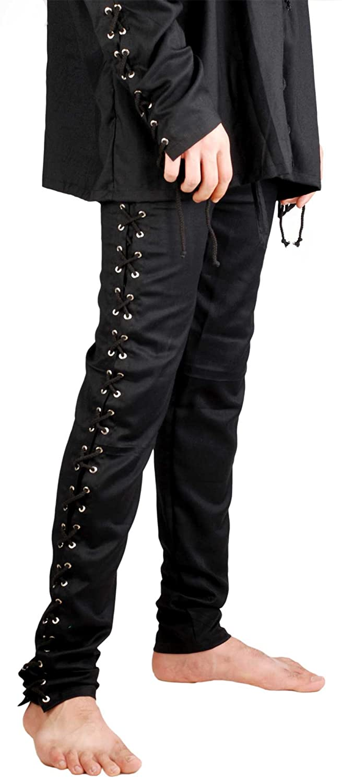 ThePirateDressing Hose, Piratin, Renaissance Kostüm Gothic-Death [schwarz],:  Amazon.de: Bekleidung