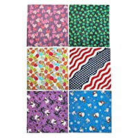 CTM Holiday Print Variety Pack (Pack of 6), Holiday Variety Prints