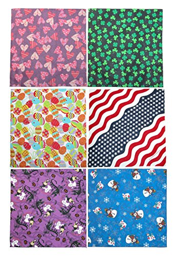 (CTM Holiday Print Variety Pack (Pack of 6), Holiday Variety Prints)