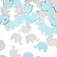 Blue Elephant Confetti Elephant Scatter Baby Shower Decoration for Boy Baby Shower Birthday Party Supplies Elephant…