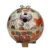 Japanese Kutani Yaki Porcelain Incense Burners Gold Flower