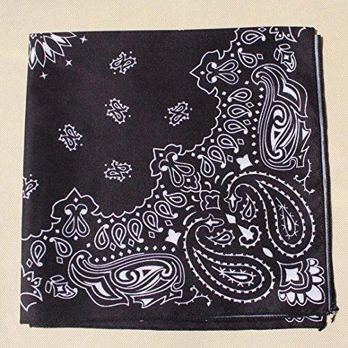 Donna Paisley Triangle Sciarpa Elegante Da Pattern Nera qTnUEnBw