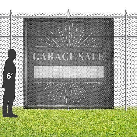 Chalk Burst Wind-Resistant Outdoor Mesh Vinyl Banner 8x8 CGSignLab Garage Sale