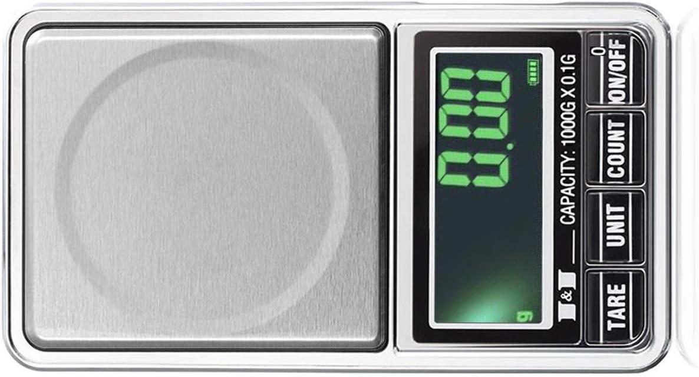 grau 100-0.01g Gold Wiegen Grau WedDecor Tragbar Digitale Taschenwaage R/ücken Beleuchtete LCD Bildschirm f/ür Schmuck Professionell Multifunktionales Aufbewahrungstasche Getreide