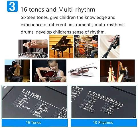 TianYaer Teclado Electrónico Piano 61 Teclas, Teclado de Piano ...