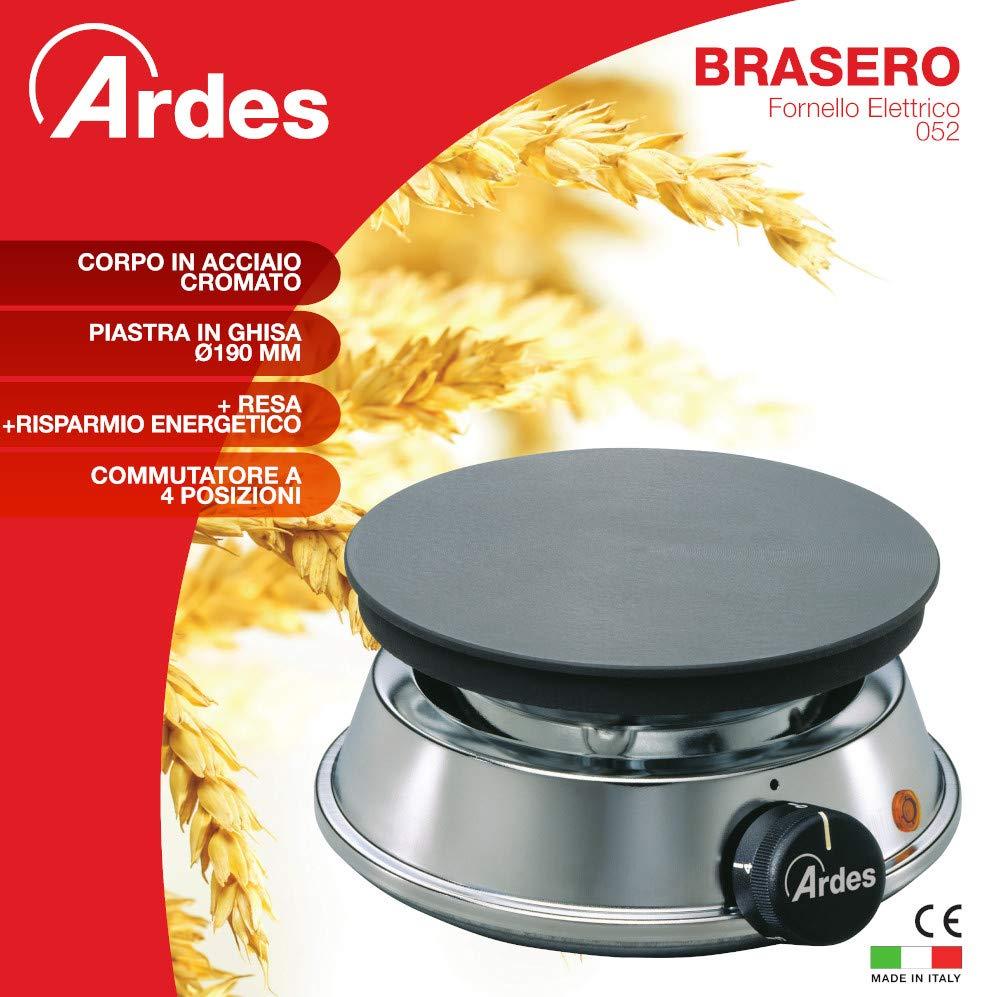 Ardes 52 BRASERO - Placa (Mesa, Eléctrico, Cromo, Giratorio, Frente, 230V): Amazon.es: Hogar