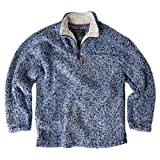 True Grit Men's Frosty Tipped Pile Pullover ( Vintage Blue,XS)