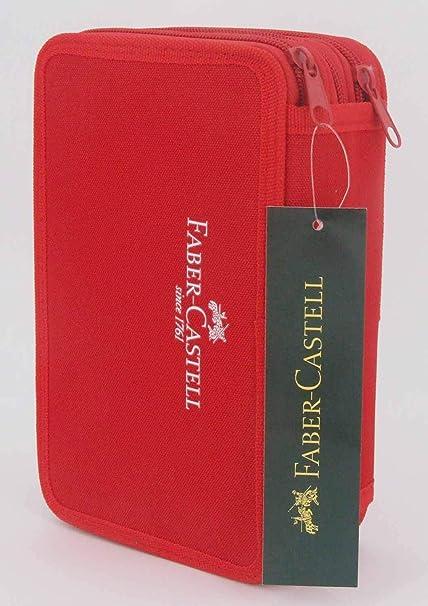 Faber-Castell 570021 estuche, rojo: Amazon.es: Oficina y papelería