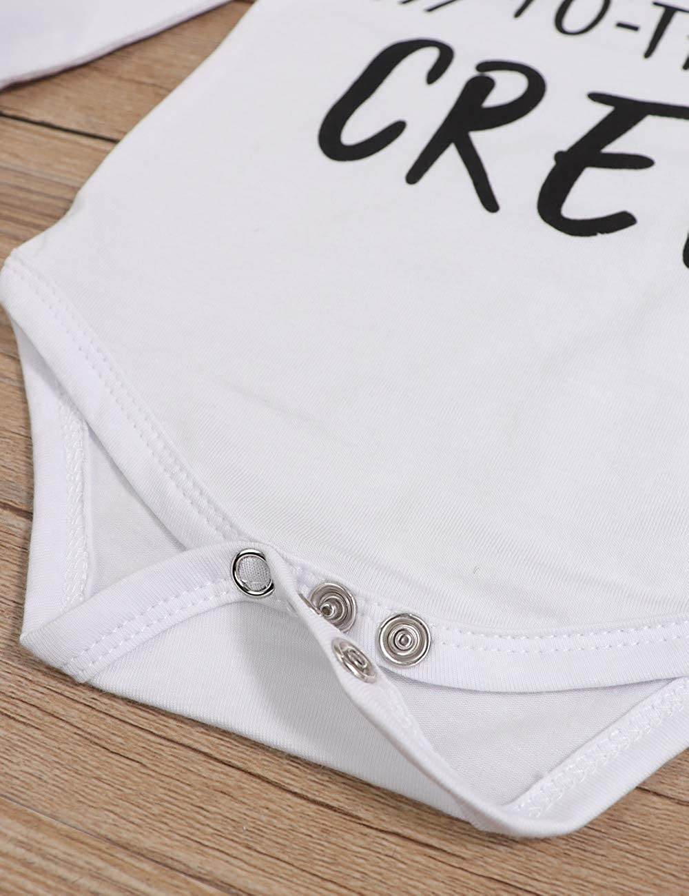 Sfuzwg Newborn Baby Boy Clothes Nuovo in Equipaggio 3 Pezzi Completi Pagliaccetto Cappello Autunno Inverno Set di Pantaloni mimetici