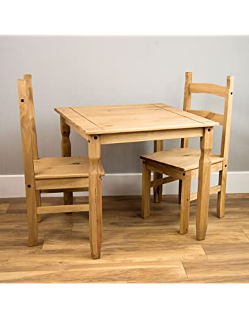 8df46cd332 Home Discount Corona Dining Set 2 Seater, Solid Pine Wood, Dining Table  With 2