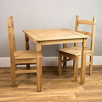 home discount corona dining set 2 seater solid pine wood rustic wax finish home discount corona dining set 2 seater solid pine wood rustic      rh   amazon co uk
