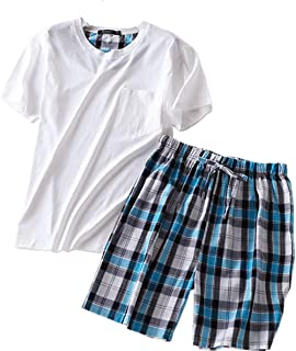 4a750df0374 L-Asher Lasher Men s Summer Pajama Sets Relax Life 2 Pcs Short ...