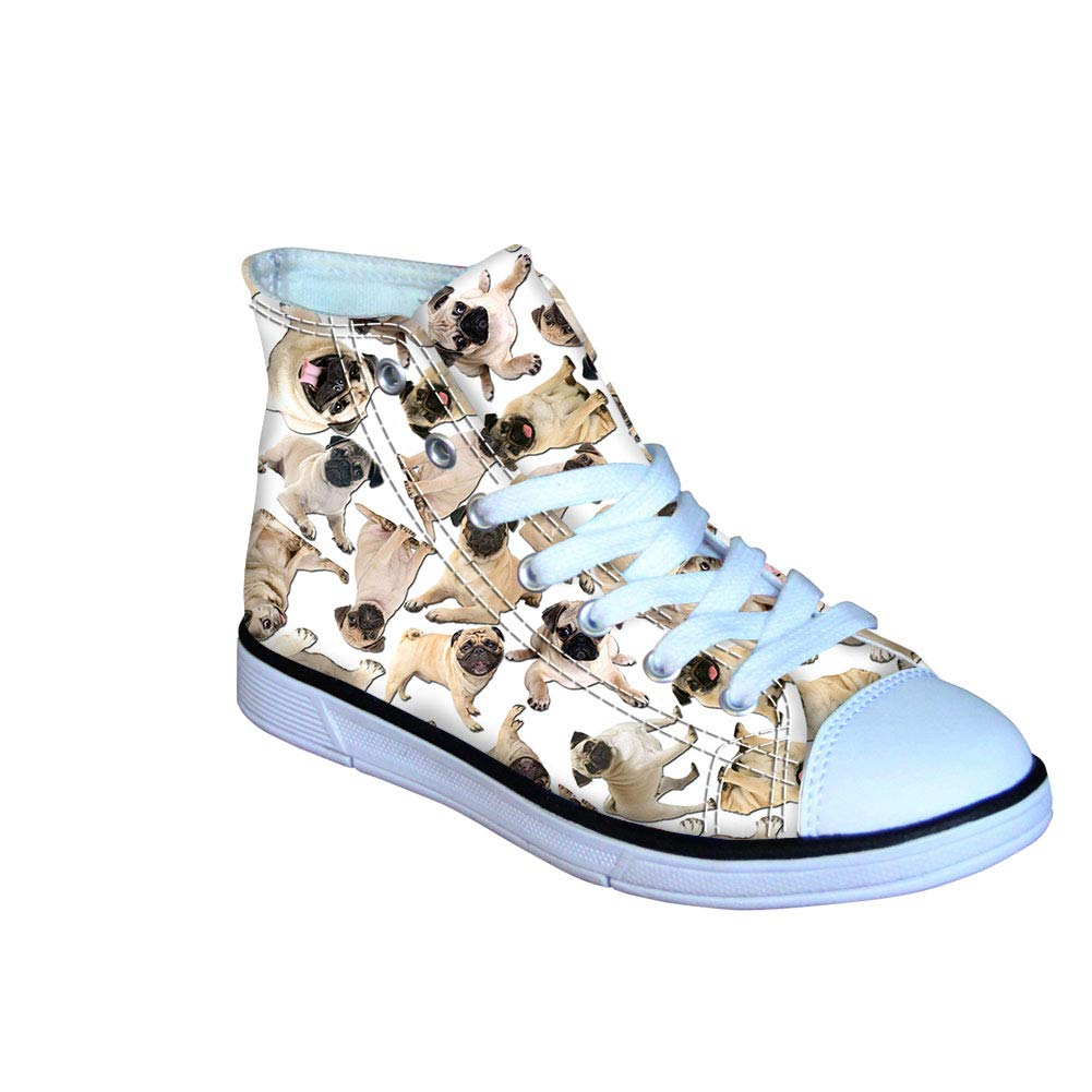 FOR U DESIGNS Cute Dogs Printed Canvas Shoes for Kids Wearproof School Lace-up Sneakers Classic Boys Girls Shoe
