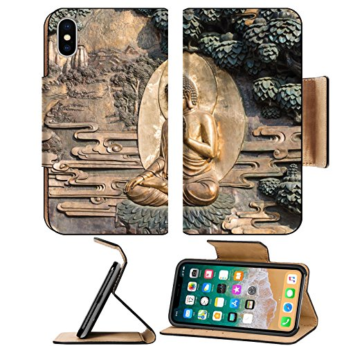 Luxlady Premium Apple Iphone X Flip Pu Leather Wallet Case Image Id  25100649 Golden Buddha Statue At Lingshan Temple Wuxi China