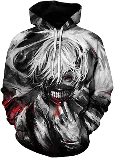 Anime Tokyo Ghoul 3D impression Hoodies Pullover Sweat-shirt Unisexe Casual Sweater