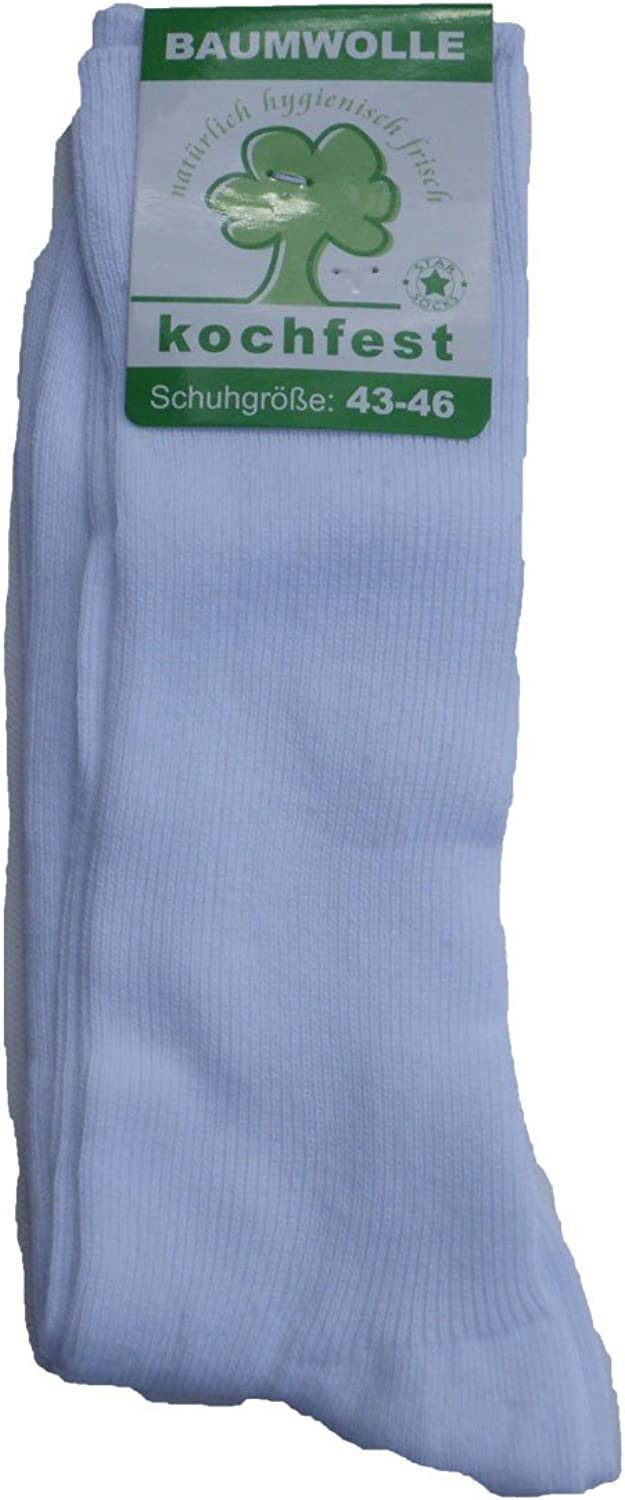 Cotton. 5 pairs of socks doctor White washable up to 90 degrees