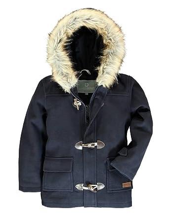 Abrigo niño azul marino con gorro talla 6-7 años: Amazon.es: Ropa y accesorios