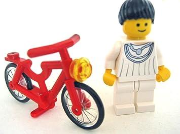 LEGO City - Figura Femenina con Bicicleta roja: Amazon.es ...