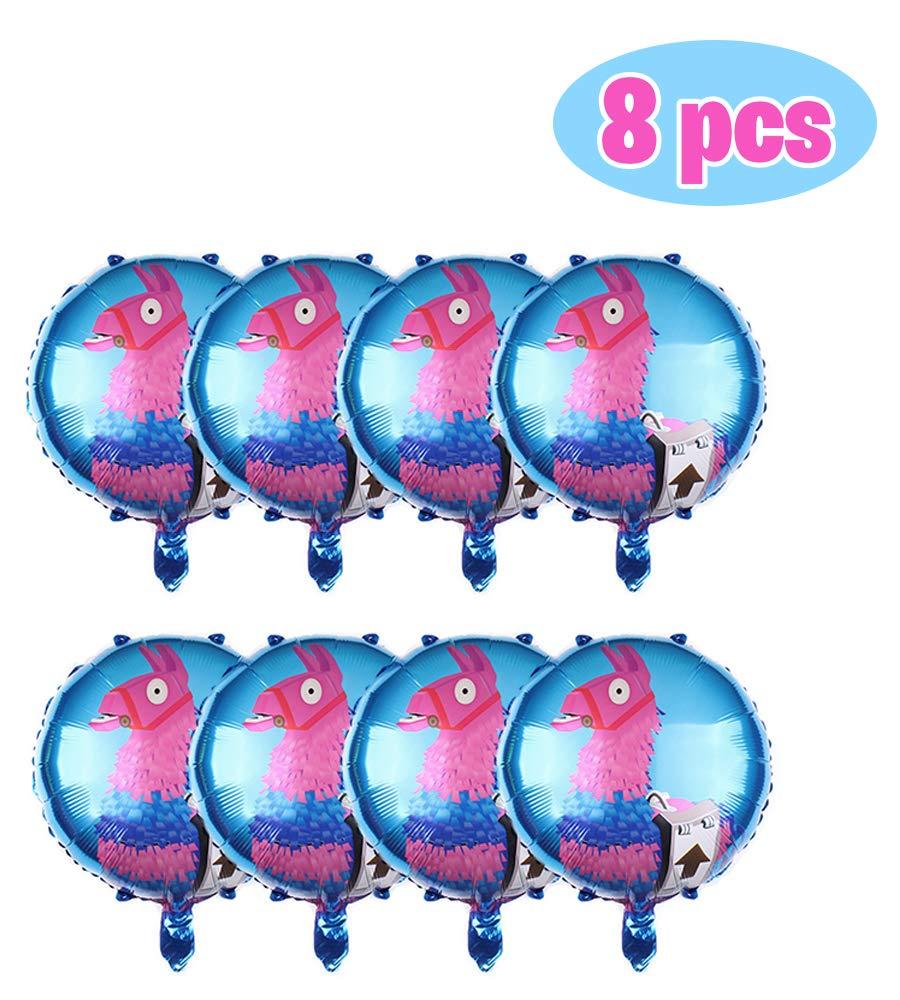 Party Hive 大型16インチ ホイル製ゲーム用ルートサプライ ラマバルーン 子供の誕生日パーティーイベントの装飾用 8個パック   B07QMV8K1Y