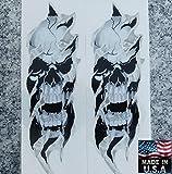i5 Fork Skull Decals compatible with Honda Kawasaki