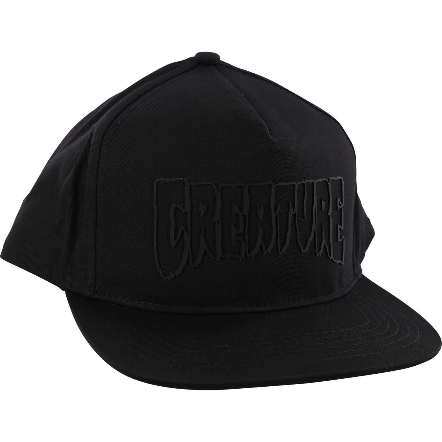 36d105a32f2 Amazon.com  Creature Skateboards Logo Weld Black Snapback Hat - Adjustable   Sports   Outdoors