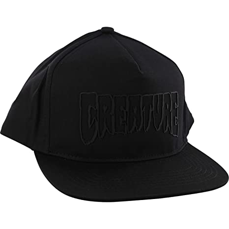 122d57ef007 Image Unavailable. Image not available for. Color  Creature Skateboards Logo  Weld Black Snapback Hat - Adjustable