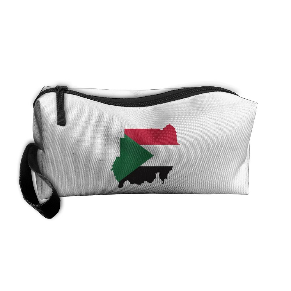 9aa594142ab0 Sudan Flag Map Pattern Makeup Bag Printing Girl Women Travel Portable Cosmetic  Bag Sewing Kit Stationery