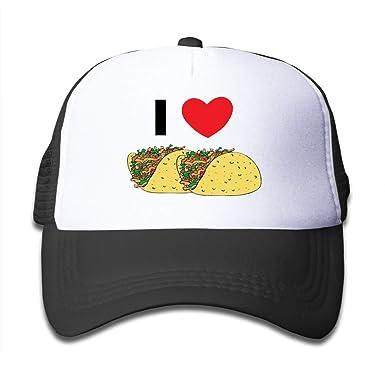 Amo Comer Tacos Gorros de Malla Ajustables para niños, niños y ...