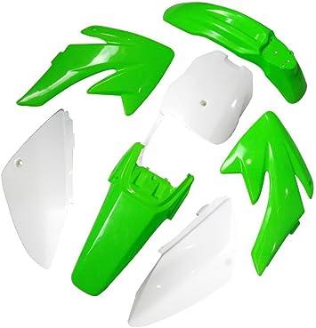 White Plastic Front Number Plate Fender Cover for Honda CRF70 80 100