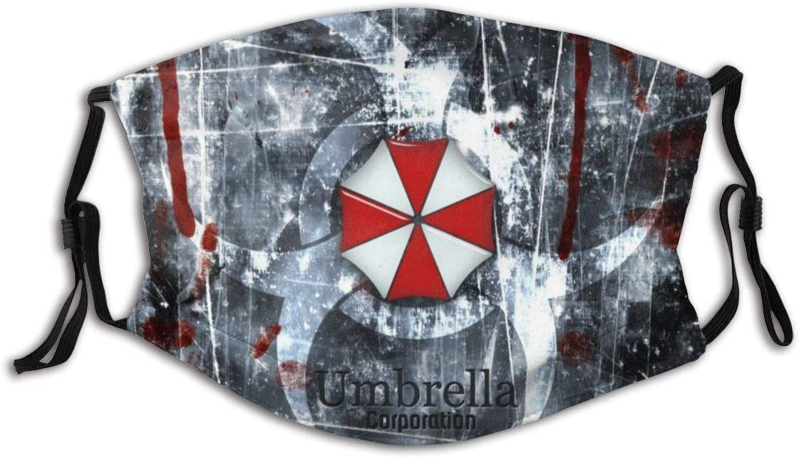 Hey Judey Mundschutz Gesichtsschutz Umbrella Corporation Resident Evil1 with Adjustable Earloop Washable Reusable Mouth Cover Face Cover