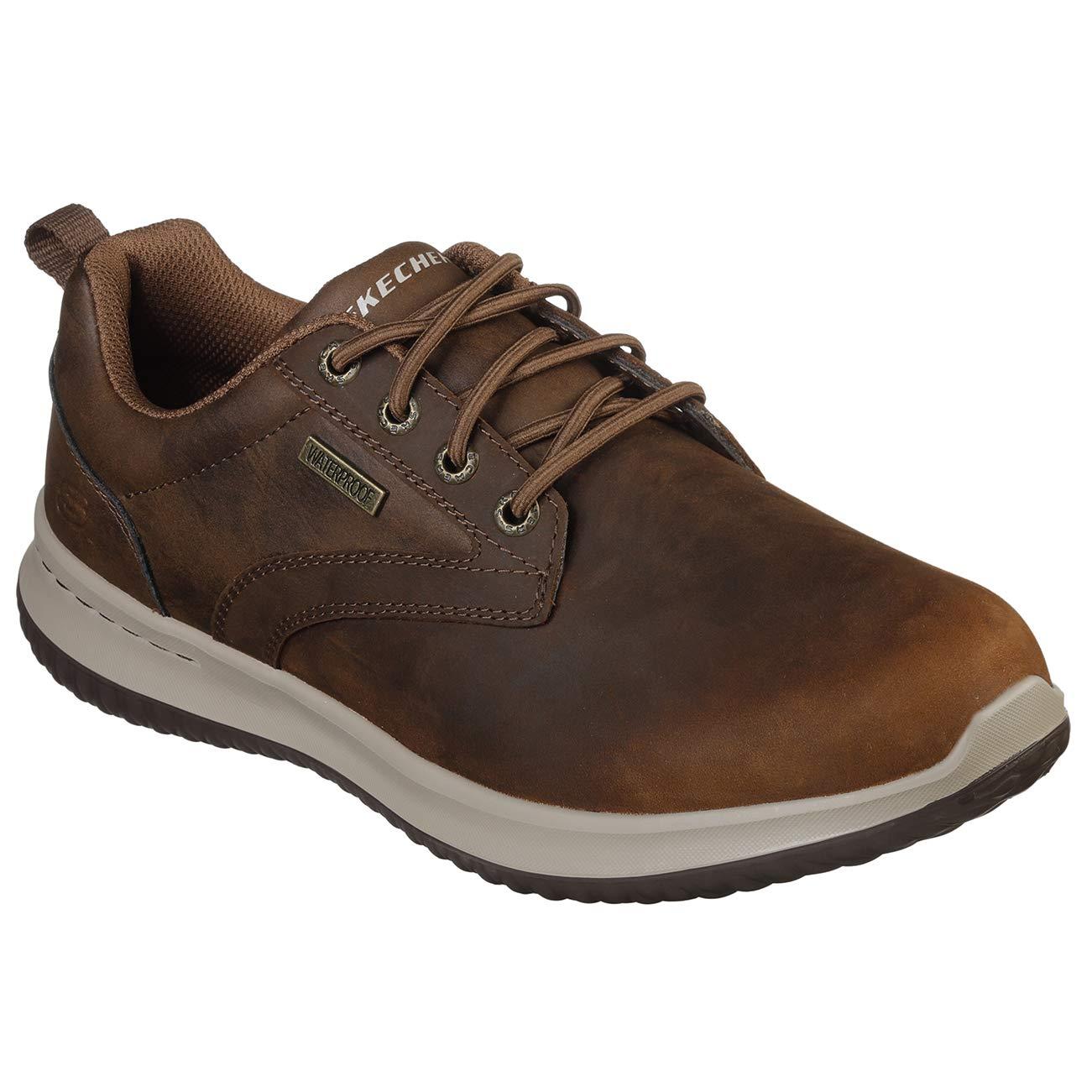 Skechers Men's Delson-Antigo Waterproof Bungee Slip on Sneaker