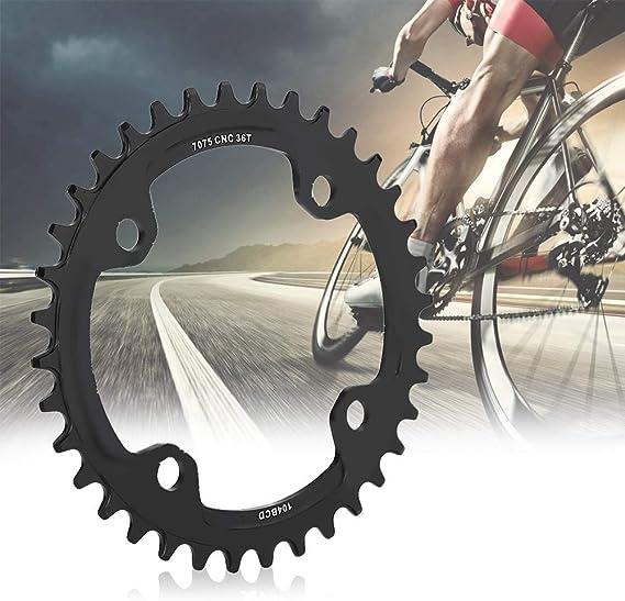 Alomejor Anillo de Cadena de Bicicleta 32/34/36 / 38T BCD 104 mm ...