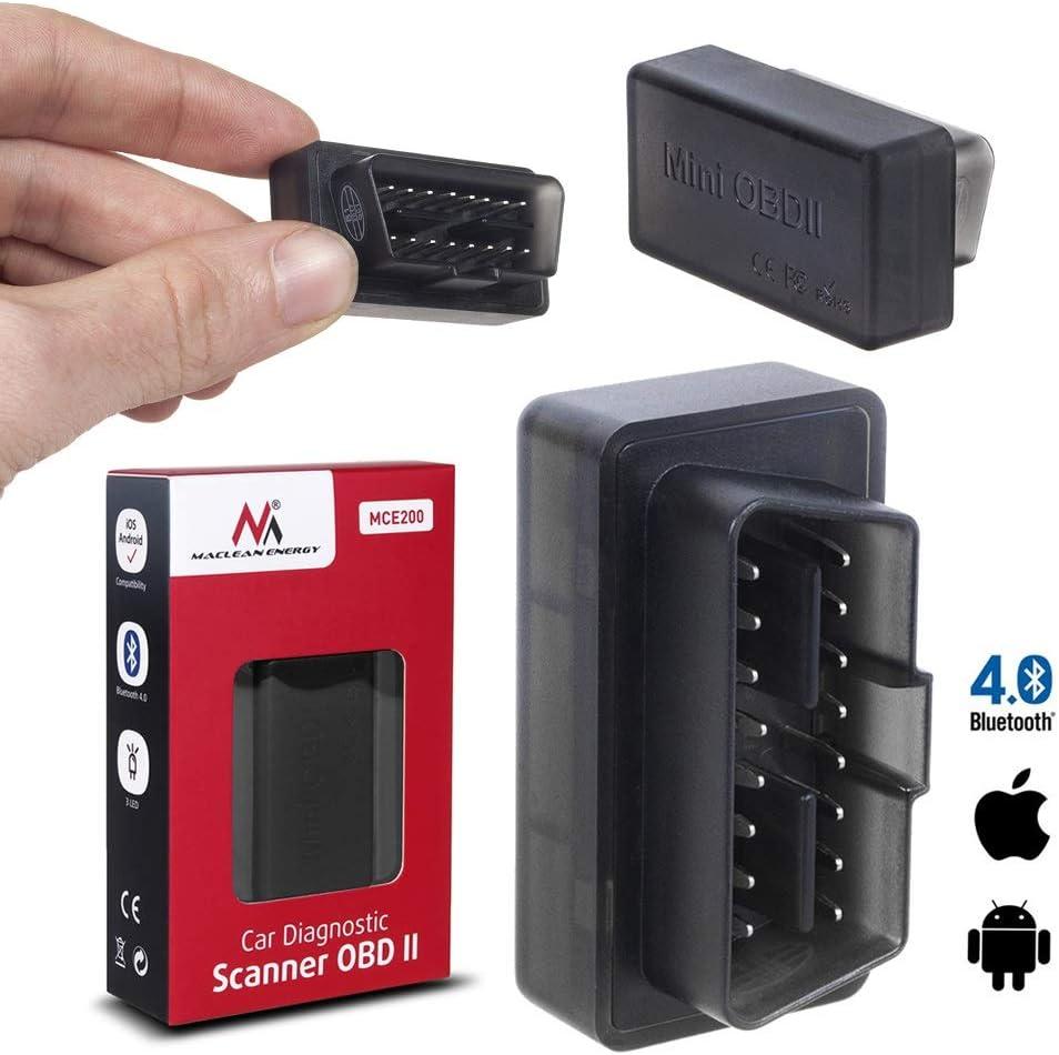 Maclean Mce200 Obd2 Diagnostic Scanner Bluetooth 4 0 Ios Auto