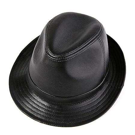 Gorras de plato Hombre Cuero ajustable de la vendimia de los ...