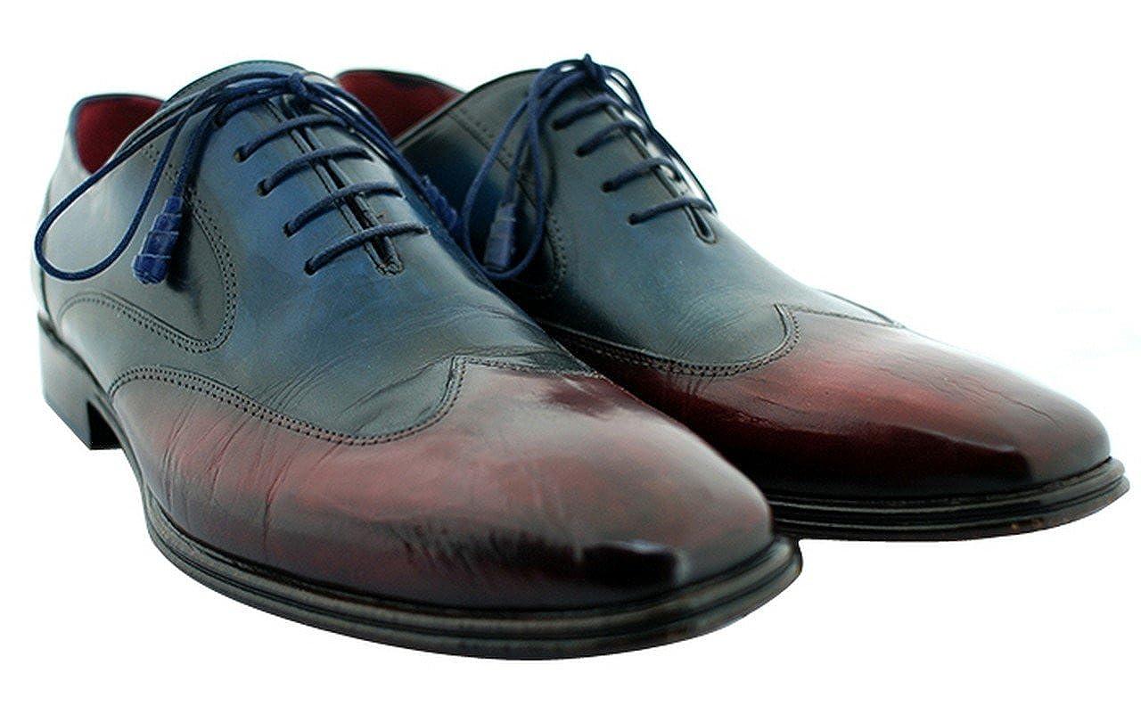Oscar William Blue/Red Regent Street Men's Shoes Luxury Classic Leather Shoes Men's B0719QJLWN Fashion Sneakers c81024