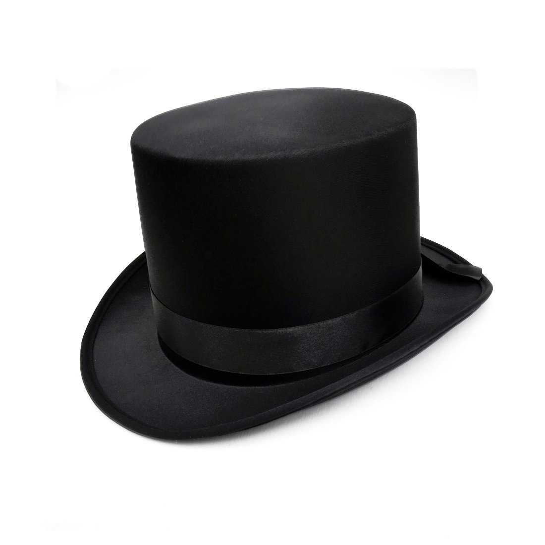 83ae209536b Fantastic Black Top Hat Great Quality Hard Satin Look Hat approx 59cm   creative collection  Amazon.co.uk  Toys   Games