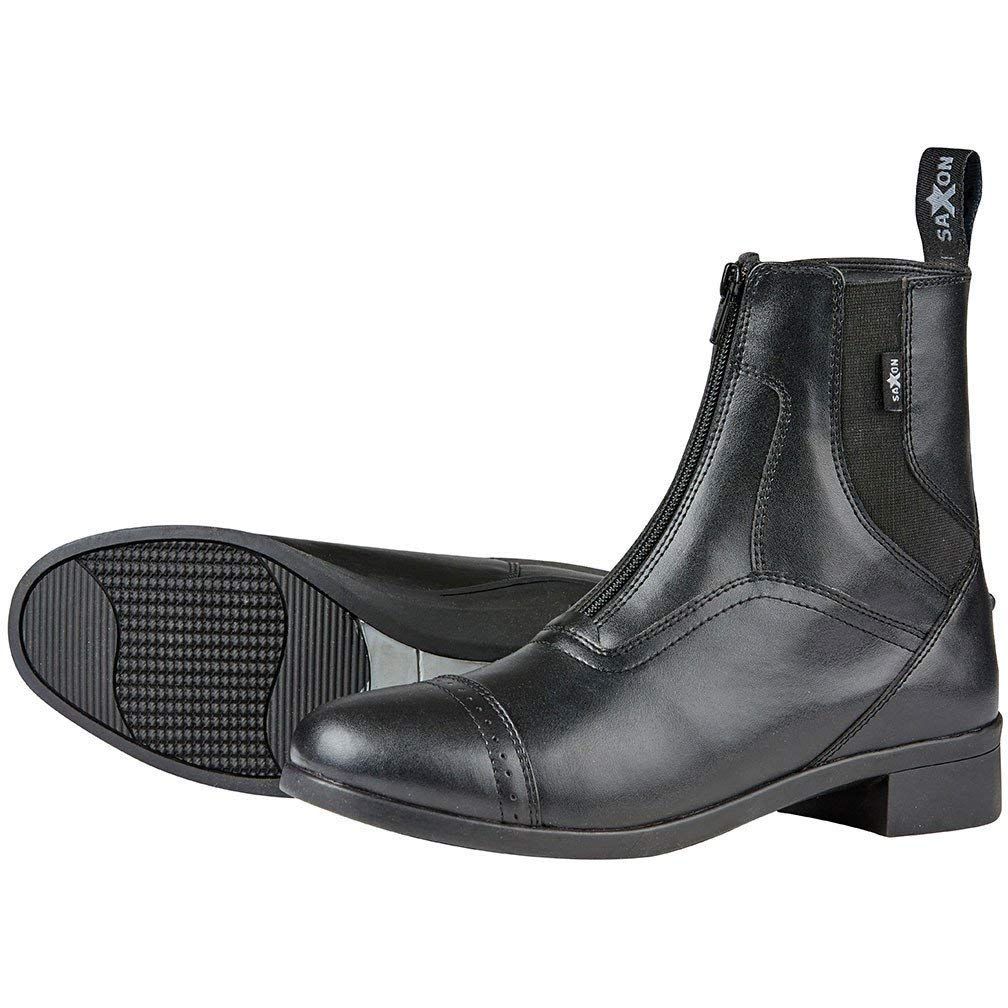 Saxon Childs Syntovia Zip Paddock Boot (4, Black)