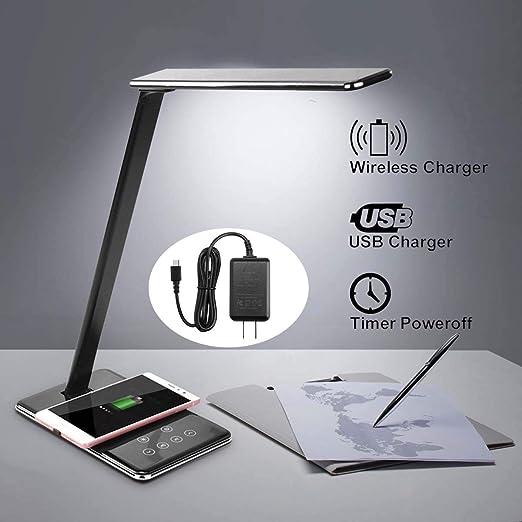 LDE Lámpara de mesa Luz de escritorio Almohadilla de ...