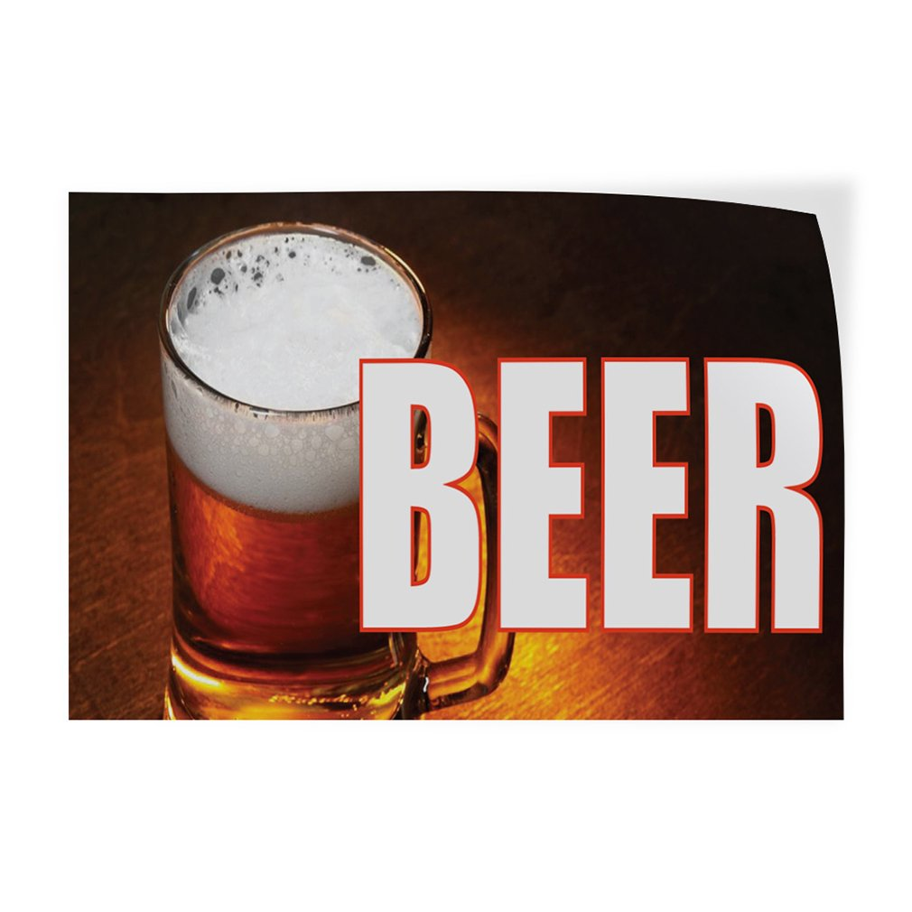 Decal Sticker Multiple Sizes Beer #1 Style A Food & Beverage Beer Outdoor Store Sign Brown - 69inx46in, Set of 2