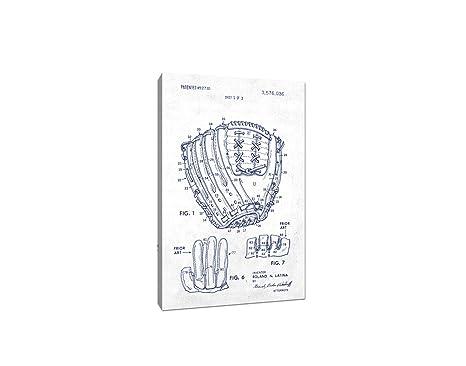 Amazon.com: Guante de béisbol lona (Azul sobre Blanco ...