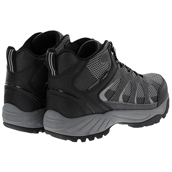 e53b316286b Khombu Tyler Men's Leather Hiking Outdoor Tactical Boots -Black/Grey