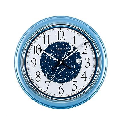 1fe657dd4e Image Unavailable. Image not available for. Color: Vosarea Quartz Wall Clock  Blue Star River Decorative ...