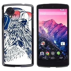 YOYOSHOP [Funny DJ Owl] LG Google Nexus 5 Case