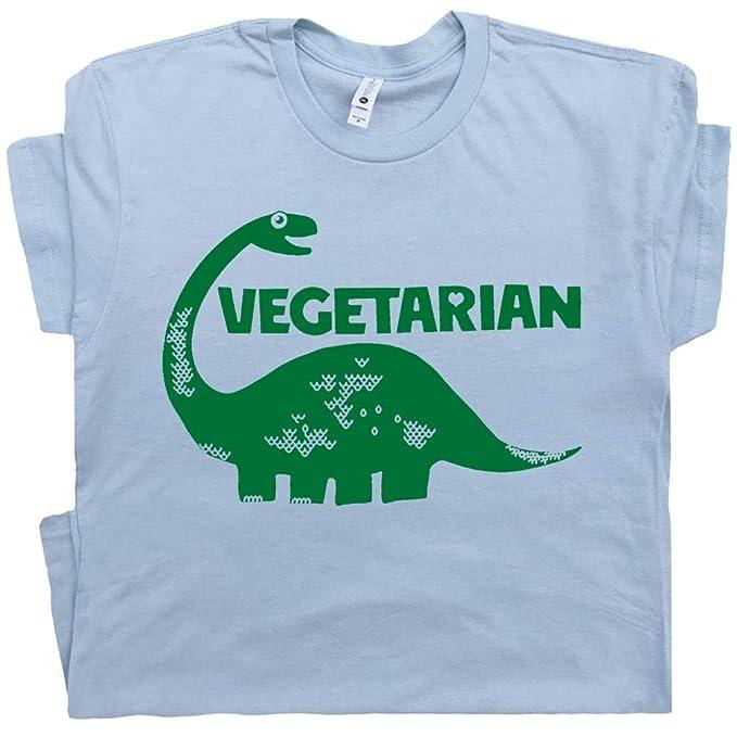 2371194b343d42 S - Vegetarian T Shirt Dinosaur Shirts Vegan Kale Brontosaurus Tee Mens  Womens Kids Graphic Tee