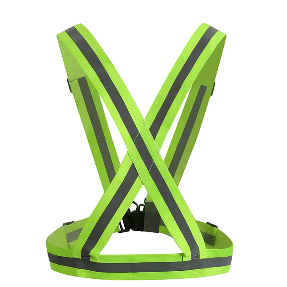 GOGO Adult Wholesale Reflective Vest For High Visibility, Motorcycle Jacket/Running Gear/Shirt-NeonGreen-50PCS by GOGO (Image #2)