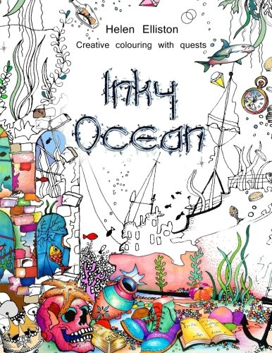 Inky Ocean: Creative colouring with quests (Inky Colouring books) (Volume 1) (Inky Quest)