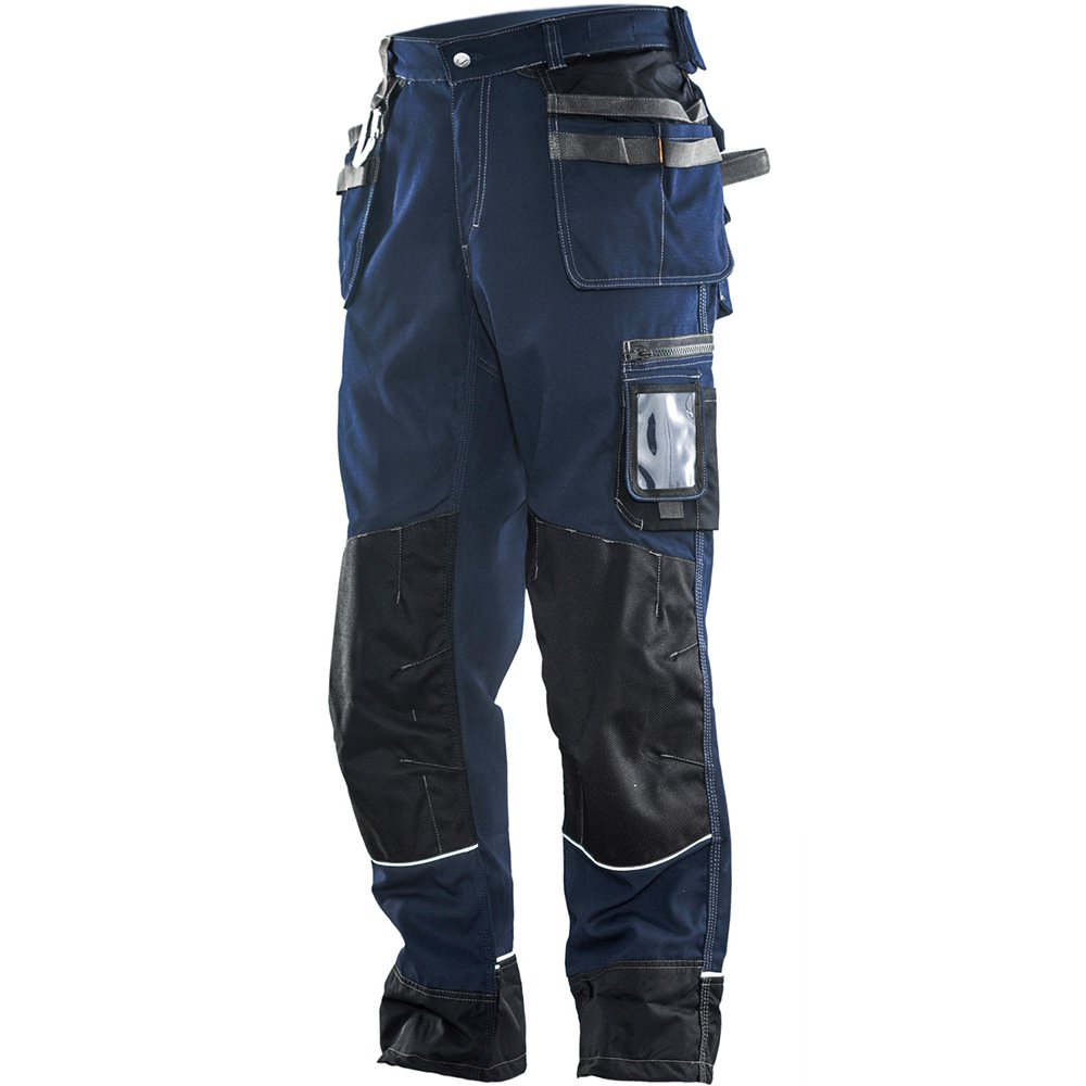 JOBMAN Workwear PANTS メンズ B00VKLR4Z2 38W x 34L|ネイビー/ブラック ネイビー/ブラック 38W x 34L
