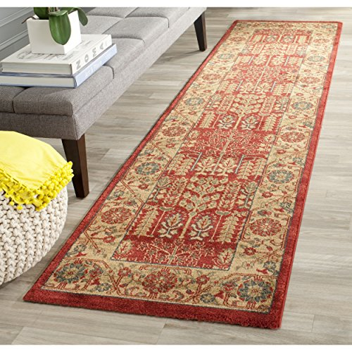 Rug Red Mahal (Safavieh Mahal Collection MAH697A Traditional Oriental Red and Natural Runner (2'2